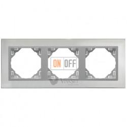 Рамка тройная Efapel logus 90 нержавеющая сталь/алюминий 90930 TIA