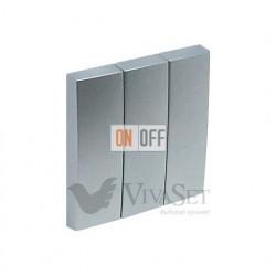 Выключатель  3 клавишный 10А 250V~ Efapel logus 90 алюминий 21088 - 90661 TAL