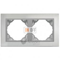 Рамка двойная Efapel logus 90 нержавеющая сталь/алюминий 90920 TIA