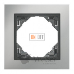 Рамка одинарная Efapel logus 90 хром/серый 90910 TRS