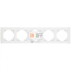 Рамка пятерная Efapel logus 90 белый 90950 TBR