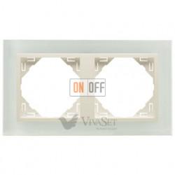 Рамка двойная Efapel logus 90 стекло жемчуг 90920 TCP