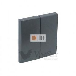 Переключатель  2 клавишный (с 2-х мест) 10А 250V~  Efapel logus 90 серый 21101 - 90611 TIS