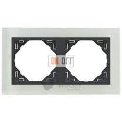Рамка двойная Efapel logus 90 стекло серый 90920 TCS