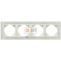 Рамка четверная Efapel logus 90 стекло лед 90940 TCG