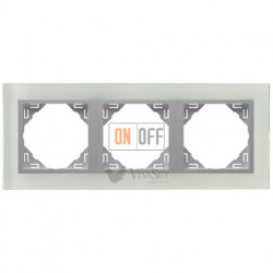 Рамка тройная  Efapel logus 90 стекло алюминий 90930 TCA