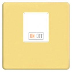 Аудиорозетка одинарная (светлое золото) FD04317OB-A - FD-310ST - FD16-BAST