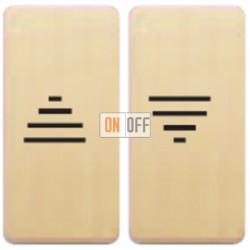 Двойная кнопка для штор с с электро-механической блокировкой (бежевый) FD17669 - FD17769-A - FD16-BAST
