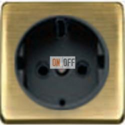 Розетка 2к+3 с винтовым подключением 10-16А 250 V~ (бронза матовая/черный) FD16523 - FD04314PM-M - FD16-BAST