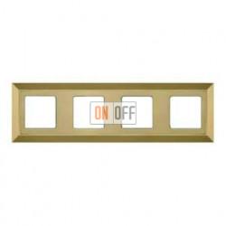 Рамка четверная, для горизонтального/вертикального монтажа FD01254OB
