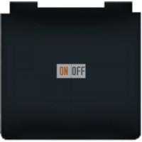 Розетка электрическая с крышкой с заземлением влагозащищенная IP44 10А (черный) FD16-RING - FD16901-M - FD16523 - FD16-BAST