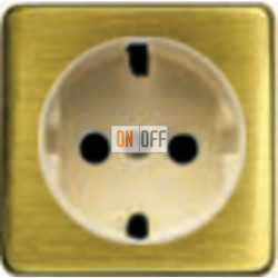 Розетка 2к+3 с винтовым подключением 10-16А 250 V~ (светлый бронза/бежевый) FD16523 - FD04314PB-A - FD16-BAST