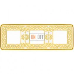 Emporio Светлое золото / Белая патина Рамка 3-я Gold White Patina FD01373OP