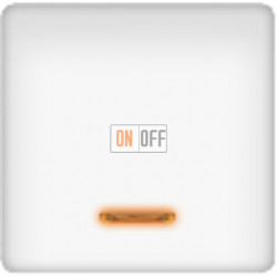 Выключатель одноклавишный с подсветкой 10А (белый) FD17705-L - FD21139-1 - FD16505 - FD16-BAST