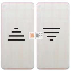 Двойная кнопка для штор с с электро-механической блокировкой (белый) FD17669 - FD17769 - FD16-BAST