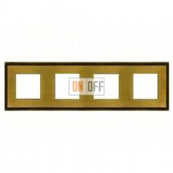 Рамка четверная, для горизонтального/вертикального монтажа FD01244PM