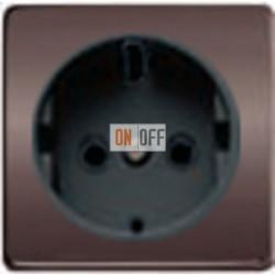 Розетка 2к+3 с винтовым подключением 10-16А 250 V~ (графит-черный) FD16523 - FD04314GR-M - FD16-BAST