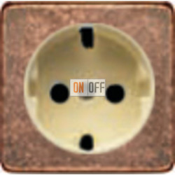 Розетка 2к+3 с винтовым подключением 10-16А 250 V~ (медь/бежевый) FD16523 - FD04314RU-A - FD16-BAST