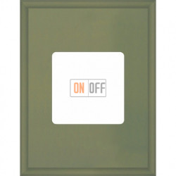 Рамка одинарная прямоугольная Fede Marco, оливковый металл FD01611GO
