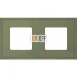 Рамка двойная Fede Marco, оливковый металл FD01602GO
