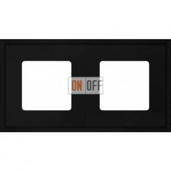 Рамка двойная Fede Marco, черный металл FD01602BK