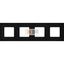 Рамка четверная Fede Marco, черный металл FD01604BK