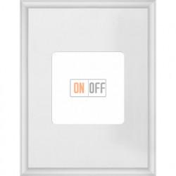 Рамка одинарная прямоугольная Fede Marco, белый металл FD01611WH