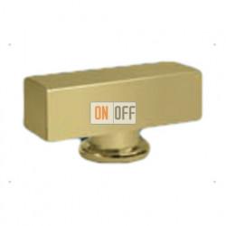 Светлое золото Квадратная Поворотная ручка Bright Gold (Oro Brillo) FD02311OB