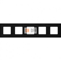 Рамка пятерная Fede Marco, черный металл FD01605BK