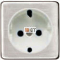 Розетка 2к+3 с винтовым подключением 10-16А 250 V~ (никель/белый) FD16523 - FD04314NS - FD16-BAST