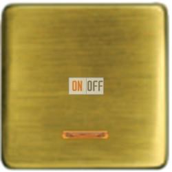 Выключатель одноклавишный с подсветкой 10А 250 V~ FD04312PB - FD21139-1 - FD16505 - FD16-BAST