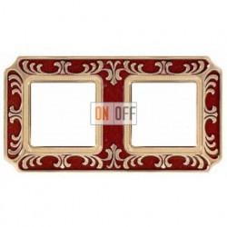 FEDE Siena Рубиново-красный Рамка 2-я Ruby Red FD01352ROEN