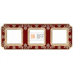 FEDE Siena Рубиново-красный Рамка 3-я Ruby Red FD01353ROEN