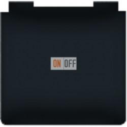 Розетка электрическая с крышкой с заземлением 10А (черный) FD16901-M - FD16523 - FD16-BAST