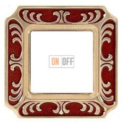 FEDE Siena Рубиново-красный Рамка 1-я Ruby Red FD01351ROEN