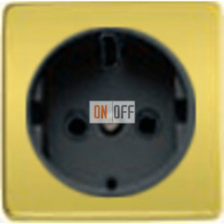 Розетка 2к+3 с винтовым подключением 10-16А 250 V~ (никель/черный) FD16523 - FD04314OB-M - FD16-BAST