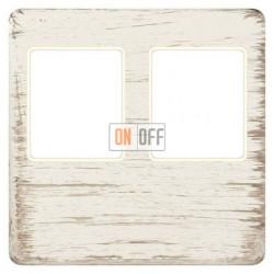 Аудиорозетка двойная (белый декапо) FD04318BD-A - FD-310ST - FD-310ST - FD16-BAST