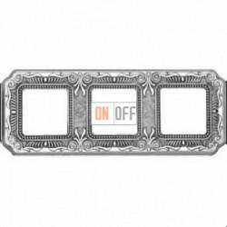 Рамка Toscana Firenze 3 поста (блестящий хром) FD01363CB