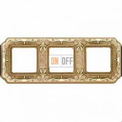 Рамка Toscana Firenze 3 поста (блестящее золото) FD01363OB