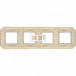 Рамка Toscana Firenze 4 поста (золото - патина) FD01364OP