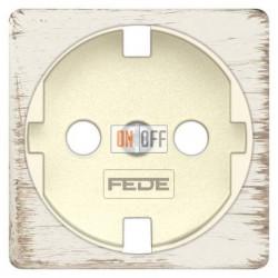 Розетка с заземлением, винтовой монтаж, 10-16А 250 V~ (белый декапо/бежевый) FD16523 - FD04314BD-A - FD16-BAST