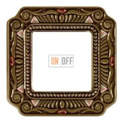 Рамка одинарная Fede Palace, светлая бронза с кристаллами FD01361PBCL