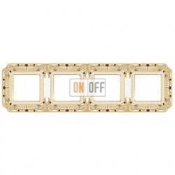 Рамка четверная Fede Palace, светлое золото с кристаллами FD01364OPCL