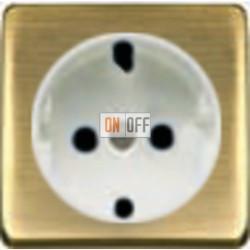 Розетка 2к+3 с винтовым подключением 10-16А 250 V~ (бронза матовая/белая) FD16523 - FD04314PM - FD16-BAST