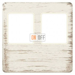 Розетка телефонная двойная (белый декапо) FD04318BD-A - FD-T3-B - FD-T3-B - FD16-BAST