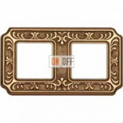 Рамка Toscana Siena 2 поста (блестящее золото) FD01352OB