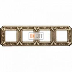 Рамка Toscana Siena 4 поста (блестящее золото) FD01354OB