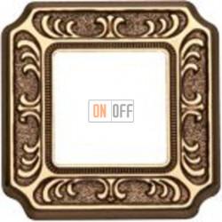 Рамка Toscana Siena 1 пост (блестящее золото) FD01351OB