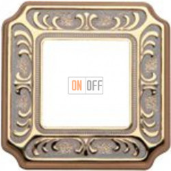 Рамка Toscana Siena 1 пост (золото - патина) FD01351OP