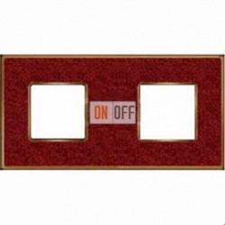 Рамка Vintage Corinto 2 поста (Pompei red - блестящее золото) FD01332PROB